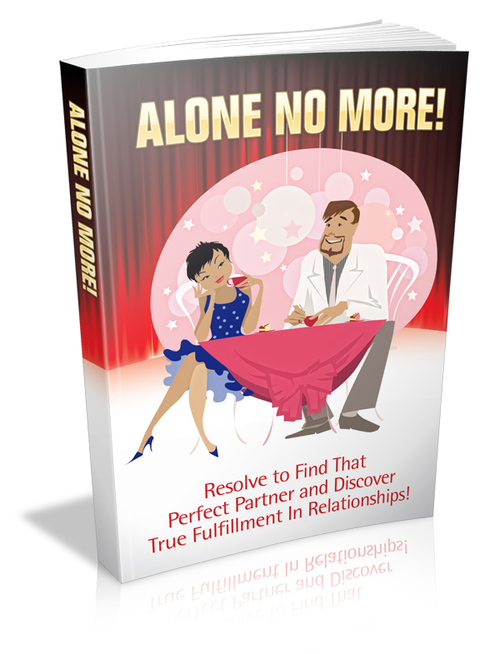 Product picture Alone No More - Resolve to find that perfect partner